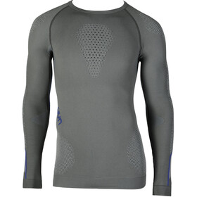UYN Ambityon UW Longsleeve Shirt Heren, medium grey/blue/royal blue